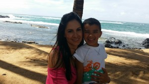 kellie anaya with son