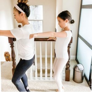 First home workouts with makeshift barre